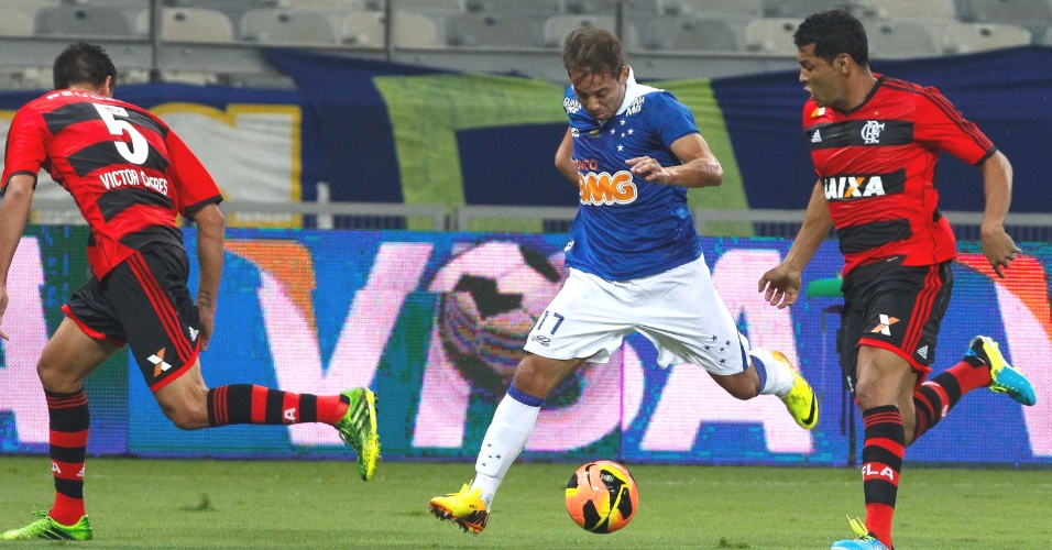 Everton Ribeiro durante a vitória do Cruzeiro sobre o Flamengo, por 2 a 1, no Mineirão, pela Copa do Brasil (21/8/2013)