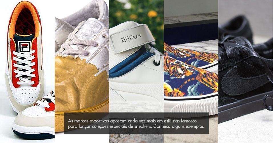 82cefe77bb6 Marcas esportivas se unem a estilistas renomados para linhas especiais de  sneakers