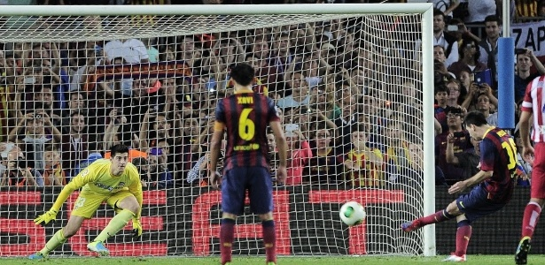 Messi passou em branco nos últimos cinco jogos entre Barcelona x Atlético de Madrid, time de Courtois