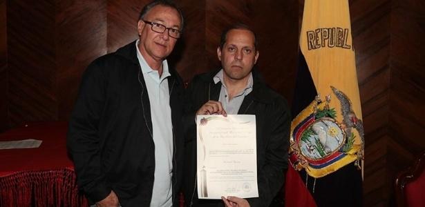 Rubens Moreno (esq.) e Roberto Natel (dir.), do São Paulo