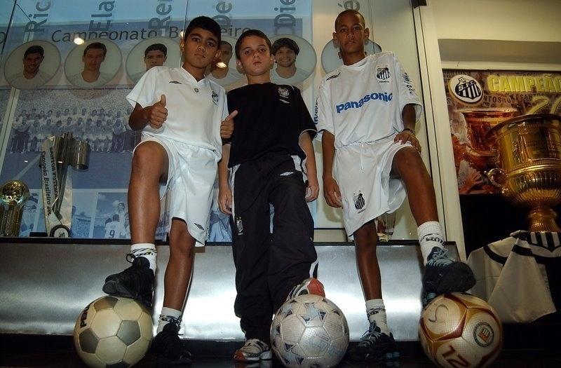 Gabigol, Chera e Neymar: Chera era o mais badalado da base santista, mas não teve o mesmo destino dos amigos