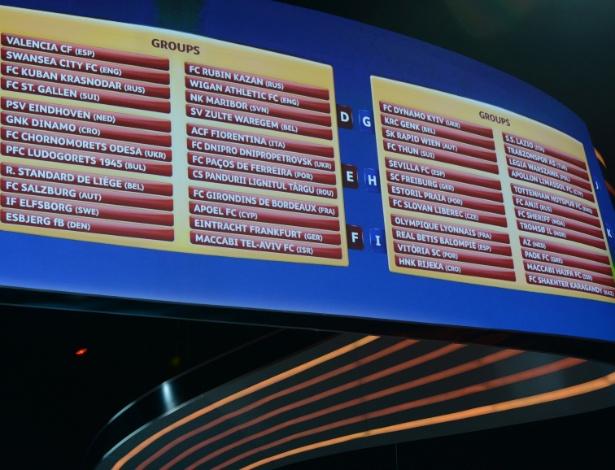 Sorteio dos grupos da Liga Europa - Futebol - UOL Esporte