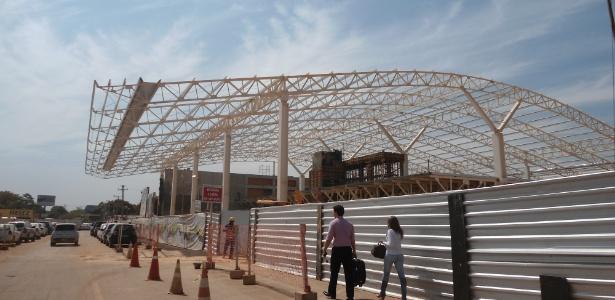 Aeroporto de Cuiabá em reforma no final de outubro: promessa de entrega para abril