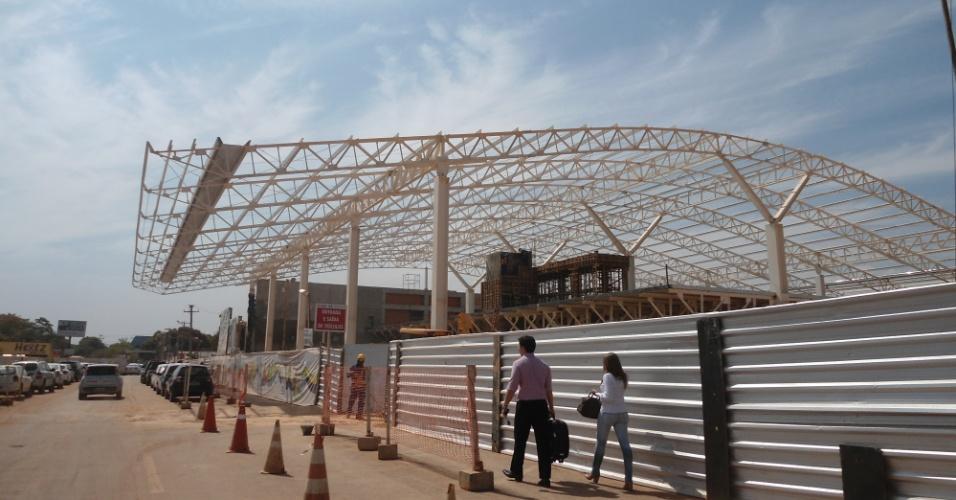 30.ago.2013 - Aeroporto de Cuiabá também está em reforma: corrida contra o relógio para deixar tudo pronto a tempo da Copa de 2014