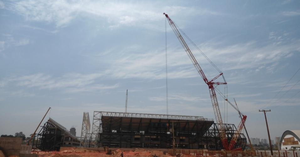 30.ago.2013 -  Arena Pantanal terá capacidade para 44 mil torcedores e receberá quatro jogos da Copa do Mundo de 2014, todos da primeira fase