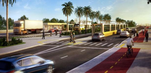 Projeto mostra como deve ficar BRT de Porto Alegre; operação só em outubro de 2014