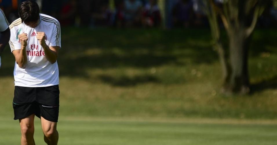 Kaká afirmou em sua apresentação ao Milan que estava perdendo o prazer de jogar futebol