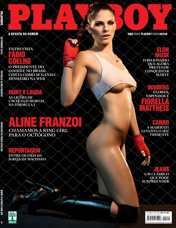 06.set.2013 - A revista Playboy divulgou nesta sexta-feira a capa de sua edição de setembro, que terá o MMA como