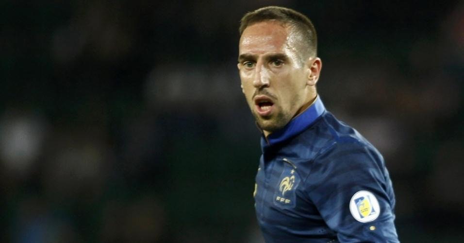 06.set.2013 - Franck Ribéry tenta levar a França para o ataque no empate sem gols com a Geórgia pelas eliminatórias da Copa-14
