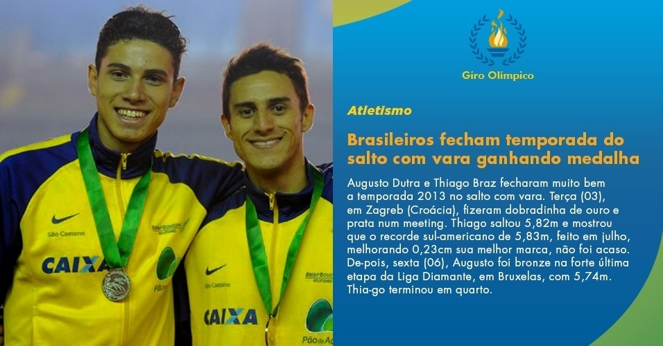 Brasileiros fecham temporada do salto com vara ganhando medalha