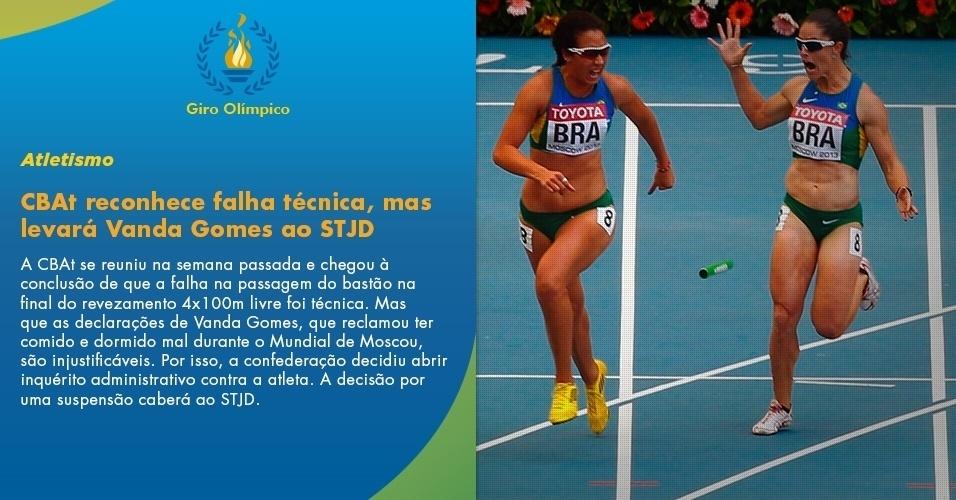 CBAt reconhece falha técnica, mas levará Vanda Gomes ao STJD