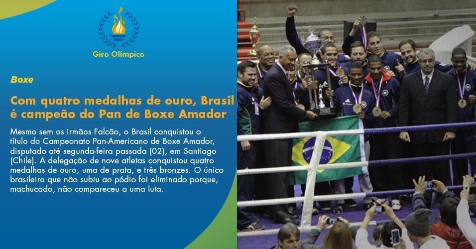Com quatro medalhas de ouro, Brasil é campeão do Pan de Boxe Amador