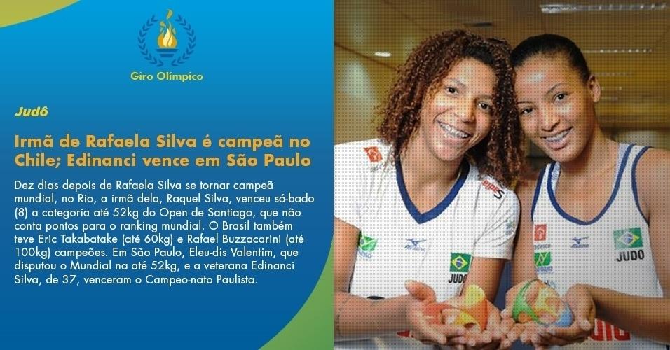 Irmã de Rafaela Silva é campeã no Chile; Edinanci vence em São Paulo