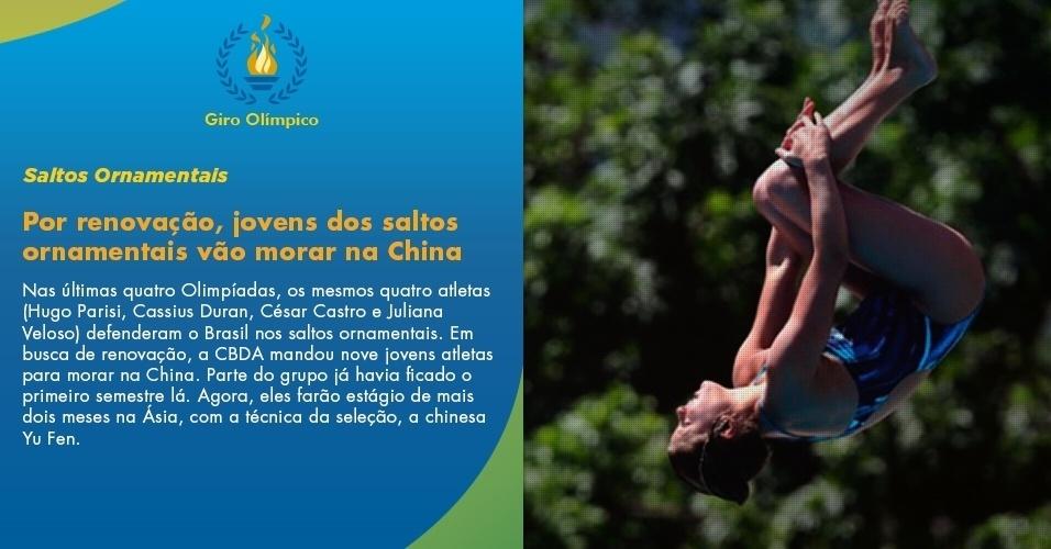 Por renovação, jovens dos saltos ornamentais vão morar na China
