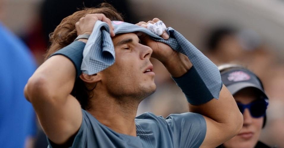09.set.2013 - Rafael Nadal, tenista número 2 do mundo, enfrentou Novak Djokovic na decisão do Aberto dos Estados Unidos