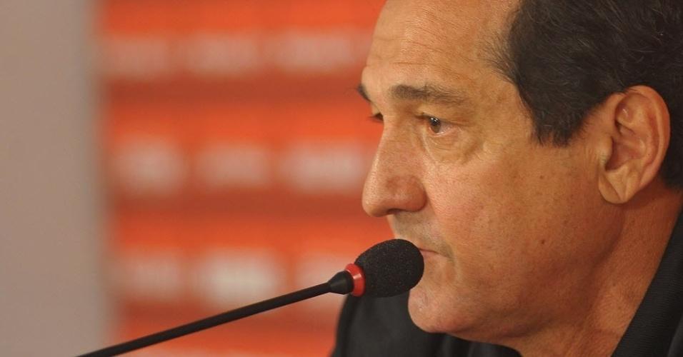 10.set.2013 - Muricy Ramalho concede entrevista coletiva em sua chegada ao São Paulo