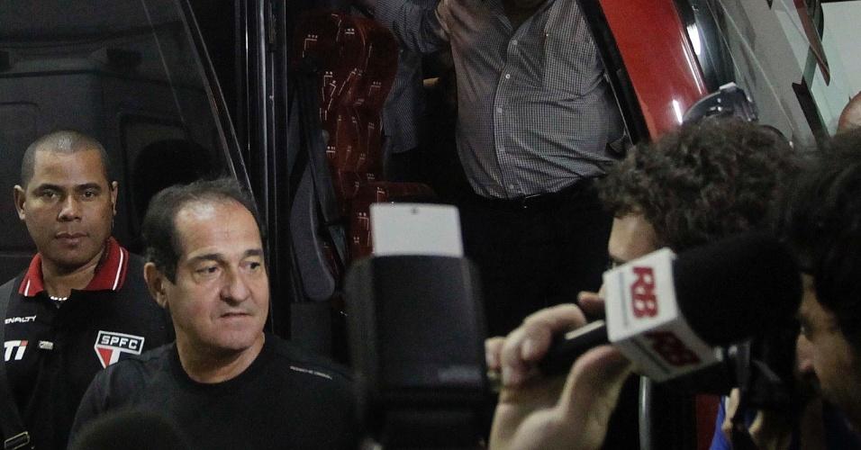12.set.2013 - Muricy Ramalho chega ao Morumbi para sua reestreia no comando do São Paulo diante da Ponte Preta