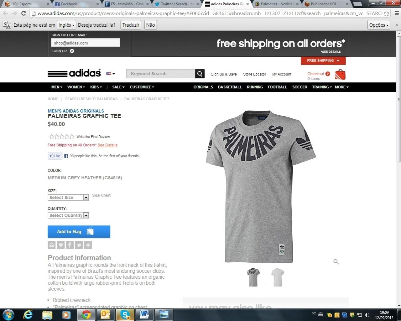 c8a928bf59438 Camisa do Palmeiras cinza vendida nos Estados Unidos causa polêmica -  12 09 2013 - UOL Esporte