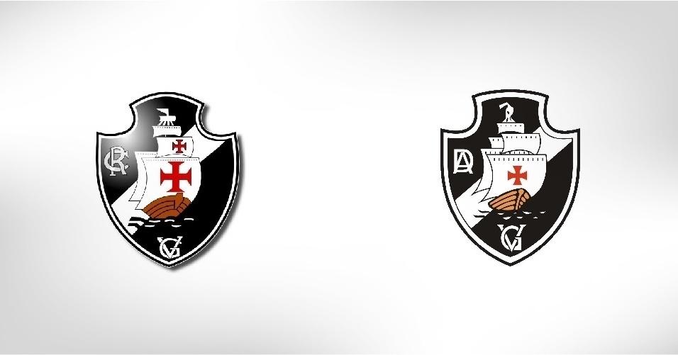 No Rio, fica o Club de Regatas Vasco da Gama. No aAcre, está a Associação Desportiva Vasco da gama. Nos símbolos, a única diferença está na lateral esquerda (CR x AD)