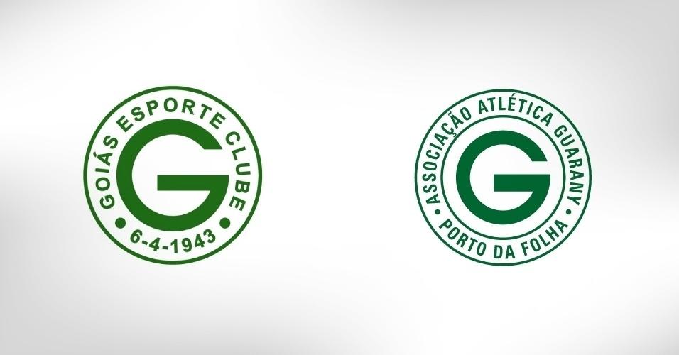 O Guarany de Porto da Folha-SE tem o nome e cores do Guarani de Campinas, mas usa escudo copiado de outro clube esmeraldino: o Goiás