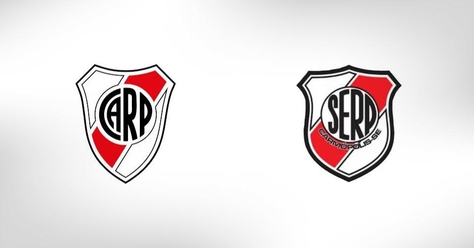 O pequeno River Plate de Carmópolis-SE, homenageia por completo o homônimo argentino; também no Sergipe, há o Boca Junior, mas este não copia em seu escudo o tradicional Boca argentino