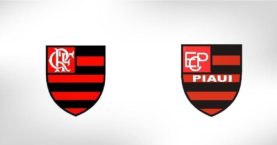 Para se diferenciar do famoso carioca, o Flamengo do Piauí colocou o nome do Estado nordestino no escudo