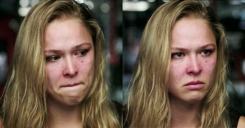 Ronda Rousey vai às lágrimas após ver a derrota de sua pupila favorita no TUF 18, o reality show do UFC