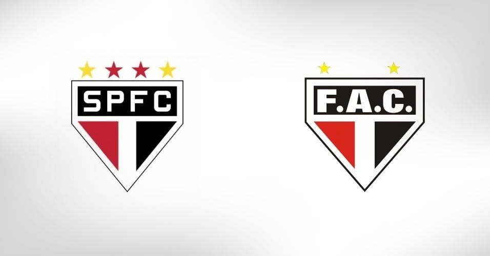 Também tricolor, o Ferroviário-CE aproveitou que tem as mesmas cores que o São Paulo e copiou o time o time paulista até no escudo
