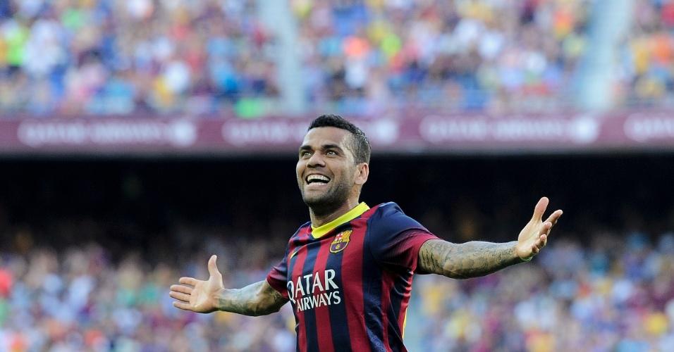 18.08.2013 - Daniel Alves, lateral direito do Barcelona