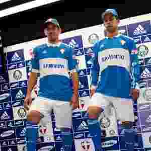 Palmeiras homenageou a Itália, país dos imigrantes que criaram o clube ainda como Palestra Itália, com uma camisa azul em 2009 - Fred Chalub/Folhapress