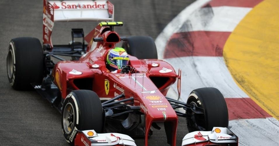 Felipe Massa fez o 12º tempo na primeira sessão de treinos livres