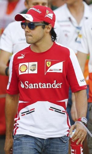 22.09.2013 - Felipe Massa chega para a disputa do GP de Cingapura