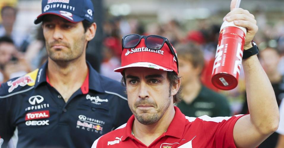 22.09.2013 - Fernando Alonso chega para a disputa do GP de Cingapura