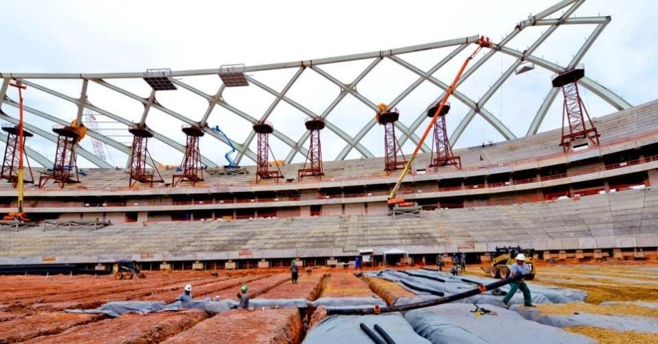 11/set/2013 - Obra da Arena da Amazônia atinge 80,33%, segundo governo