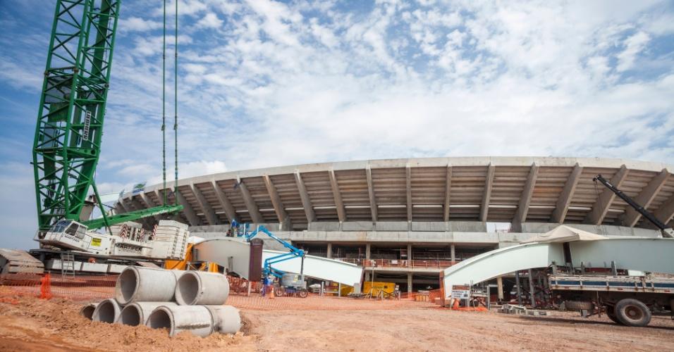 16/ago/2013 - Construção da Arena da Amazônia ultrapassa 70% em agosto