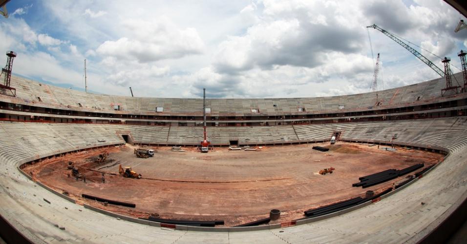 20/ago/2013 - Estádio de Manaus (AM) receberá quatro jogos da Copa do Mundo, em 2014