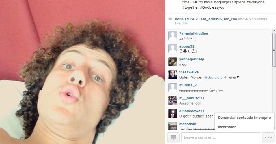 David Luiz dá 'bom dia' em diversas línguas no Instagram