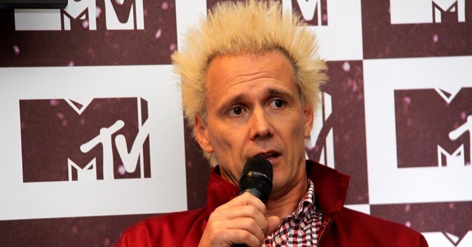 Supla durante o lançamento da nova MTV