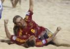 Na areia, Espanha se vinga e elimina o Brasil da Copa do Mundo - AFP PHOTO / GREGORY BOISSY