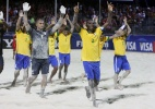 Brasil fica em terceiro no Mundial de futebol de areia; Rússia é bicampeã - AFP