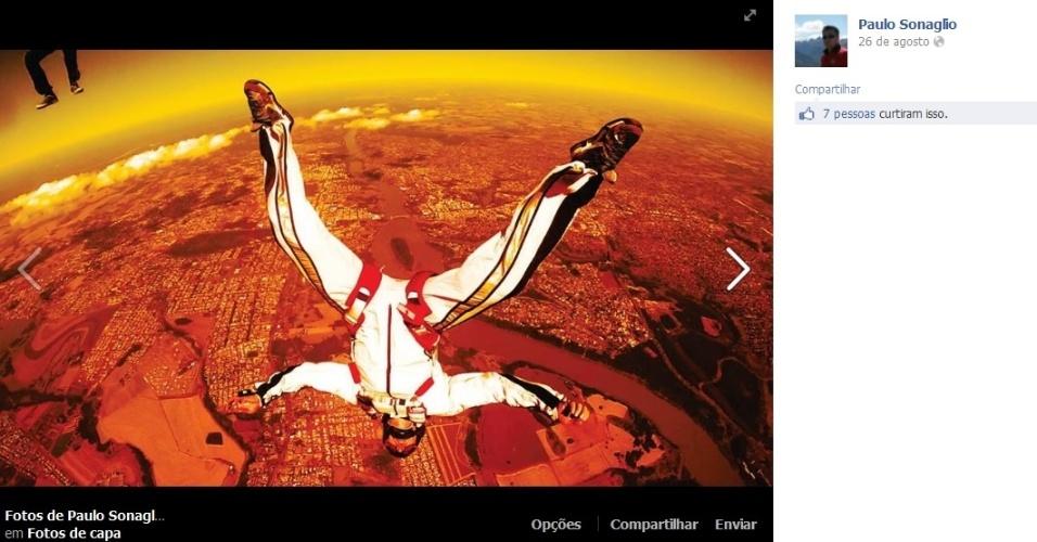 Paulo Sonaglio era apaixonado por paraquedismo. O empresário de 39 anos morreu praticando a atividade. Ele aterrissou em alta velocidade, se ferindo com gravidade. A polícia apura a causa da morte