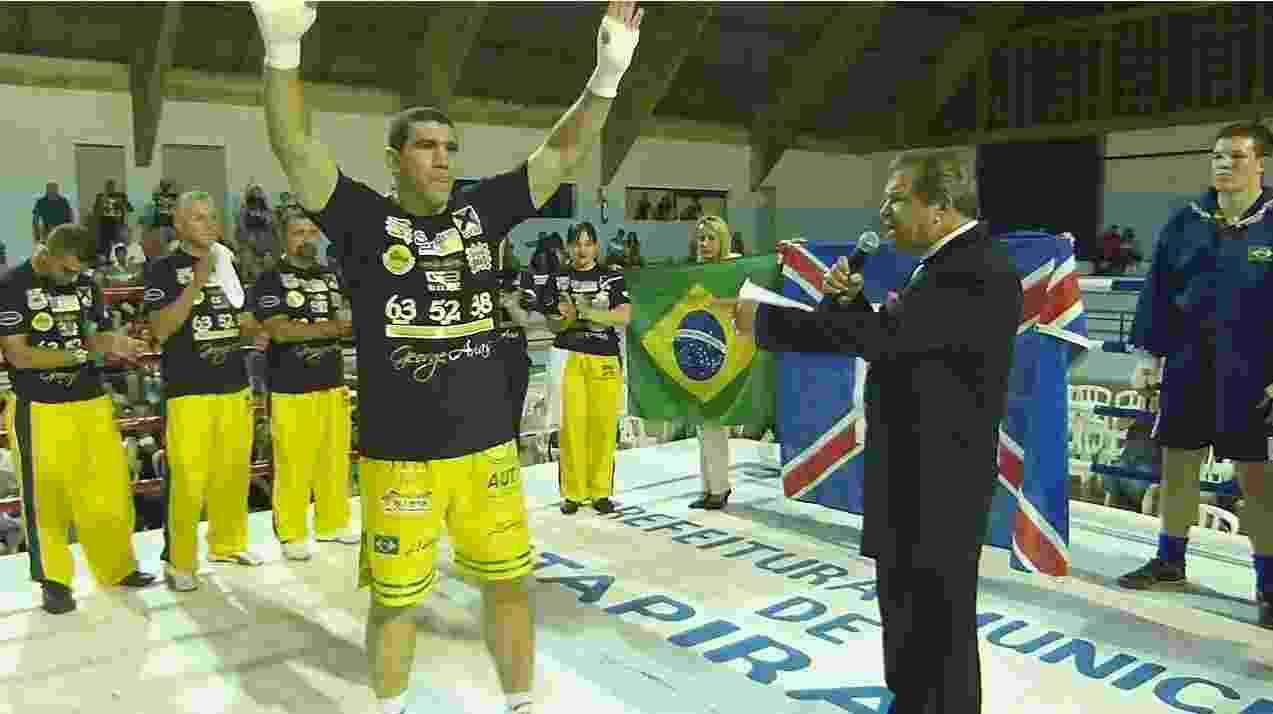George Arias é campeão brasileiro de boxe - Divulgação/Site oficial do atleta