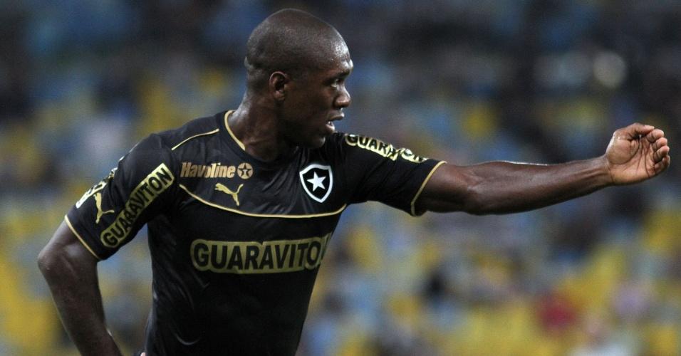 02.out.2013 - Seedorf orienta o time do Botafogo em jogo contra o Fluminense pelo Campeonato Brasileiro
