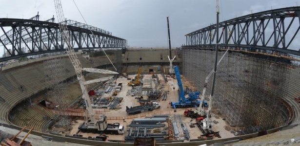 Obras da Arena foram paralisadas pela Justiça do Trabalho por falta de segurança a operários