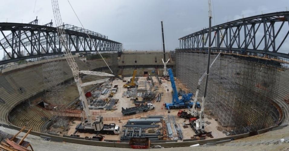 Fiscalização realizada em setembro na Arena da Baixada concluiu que a reforma do estádio oferece