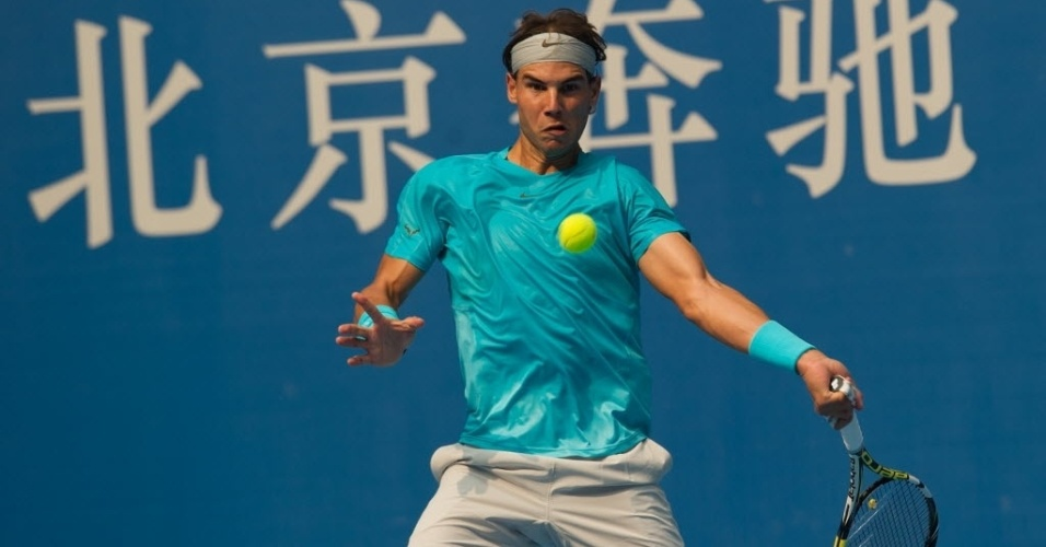 04.out.2013 - Rafael Nadal avançou às semifinais em Pequim após bater Fabio Fognini