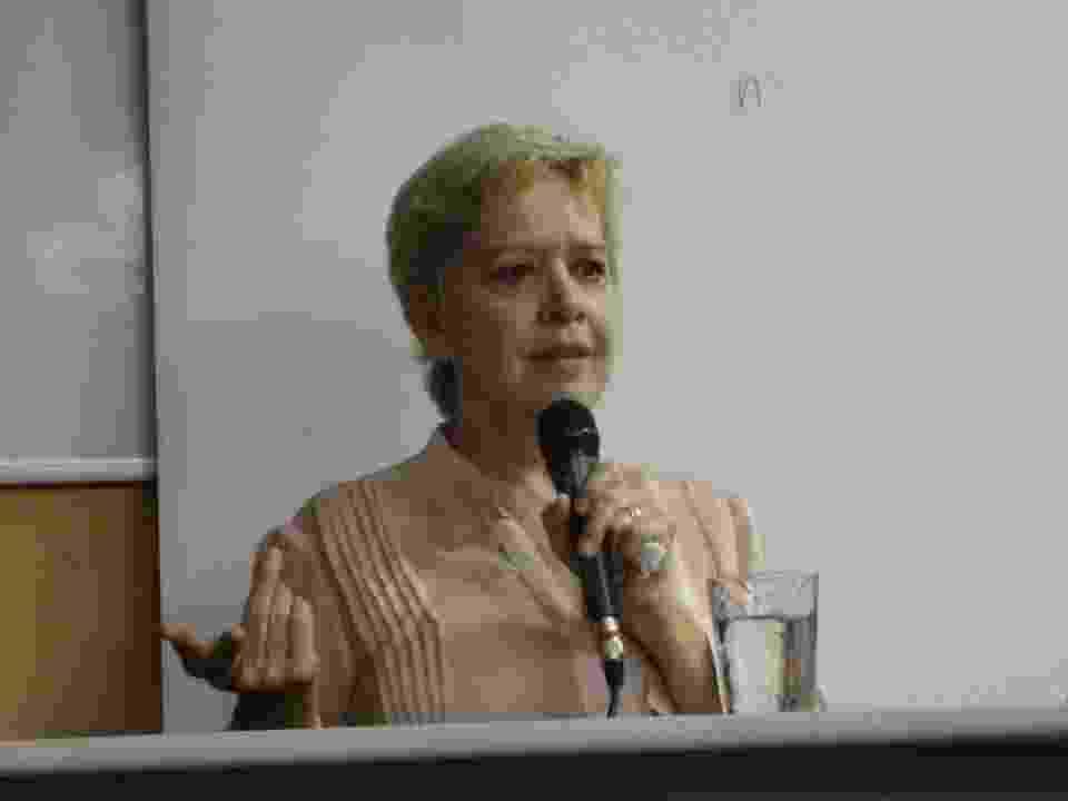 Regiani Ritter comanda palestra na faculdade Fasp, em São Paulo - Patrícia Paixão/Divulgação
