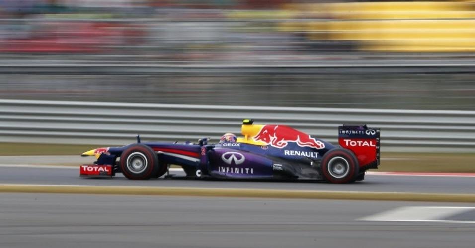 Líder do campeonato, Vettel guia sozinho e dispara na liderança do GP da Coreia do Sul