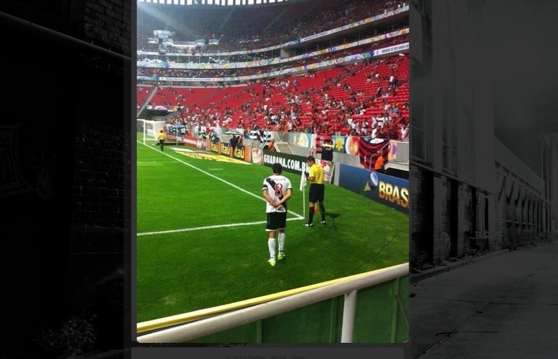 Juninho Pernambucano faz gesto à torcida do Flamengo