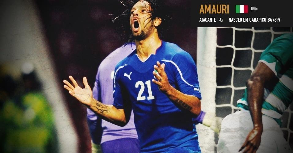 Amauri: atacante nasceu em Carapicuíba (SP) e joga pela seleção da Itália